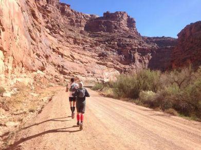 Jason and I running through the canyon.